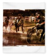 and the winner is - A vintage processed Menorca trotting race Fleece Blanket