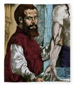 Andreas Vesalius, Flemish Anatomist Fleece Blanket