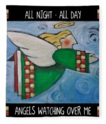 Angel Flight Poster Fleece Blanket