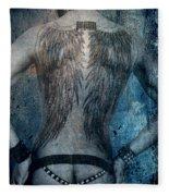 Angel Nude  Fleece Blanket