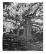 Angel Oak Fleece Blanket