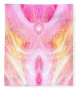 Angel Of Divine Love Fleece Blanket