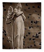 Angel Of Stone S Fleece Blanket