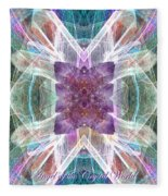 Angel Of The Crystal World Fleece Blanket