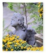 Angel Of The Garden Fleece Blanket