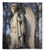 Angel Statue Fleece Blanket