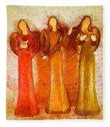 Angels Rejoicing Together Fleece Blanket