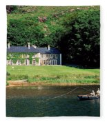 Angling, Delphi Lodge, Co Mayo, Ireland Fleece Blanket