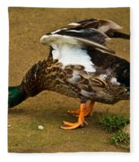 Angry Mallard Fleece Blanket