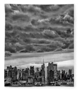 Angry Skies Over Nyc Fleece Blanket