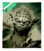 Angry Yoda Fleece Blanket