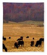 Angus And Oaks  Farm Fleece Blanket