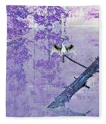 Anhinga Japanese Style Fleece Blanket