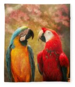 Animal - Parrot - We'll Always Have Parrots Fleece Blanket