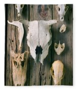 Animal Skulls Fleece Blanket