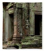 Ankor Wat Cambodia Fleece Blanket