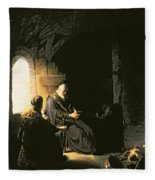 Anna And The Blind Tobit Fleece Blanket