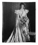 Anna Eleanor Roosevelt Fleece Blanket