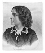 Anna Elizabeth Dickinson Fleece Blanket