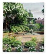 Annapolis Fountain Garden Fleece Blanket