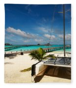 Another Day. Maldives Fleece Blanket