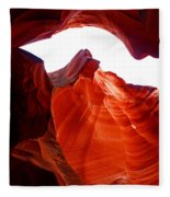 Antelope Canyon Skylight Fleece Blanket