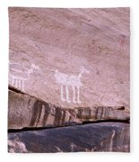 Antelope House Petroglyphs Fleece Blanket
