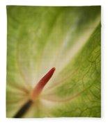Anthurium Macro Fleece Blanket