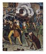 Anti-catholic Mob, 1844 Fleece Blanket