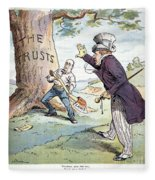 Anti-trust Cartoon, 1904 Fleece Blanket