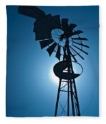 Antique Aermotor Windmill Fleece Blanket