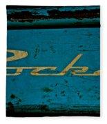 Antique Blue Wagon Fleece Blanket