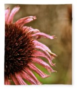 Antique Cone Flower Fleece Blanket