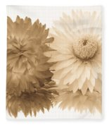 Antique Floral Duo Fleece Blanket