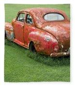 Antique Ford Car 5 Fleece Blanket