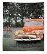 Antique Ford Car 7 Fleece Blanket