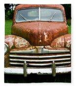 Antique Ford Car 8 Fleece Blanket