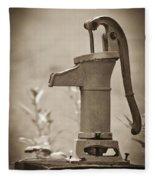Antique Hand Water Pump Fleece Blanket