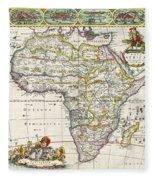 Antique Map Of Africa Fleece Blanket