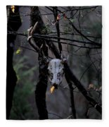 Antlers - Skull - In The Air Fleece Blanket