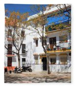 Apartment Houses In Marbella Fleece Blanket