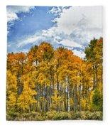Apen Trees In Fall Fleece Blanket
