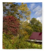 Appalachian Autumn Fleece Blanket