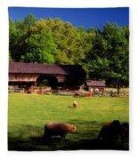 Appalachian Barn Yard Fleece Blanket