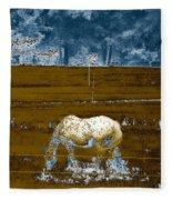 Appaloosa Reverse Fleece Blanket