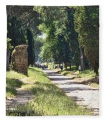 Appian Way In Rome Fleece Blanket