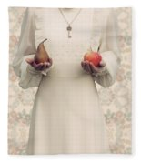 Apple And Pear Fleece Blanket