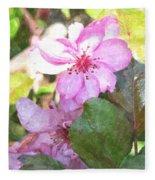 Apple Blossom II Ab2wc Fleece Blanket