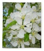 Apple Blossoms On The Trail Fleece Blanket