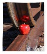 Apple Juice Railroad 4 Fleece Blanket
